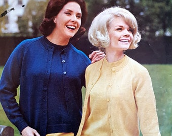 PATONS 9589 Vintage Ladies Knitting Pattern