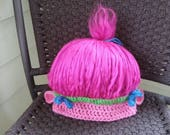 Custom Order for Johanna; Poppy Troll Hat; 3 Months Size; Ready to Ship