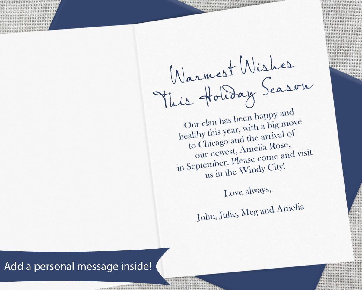 Personalized Christmas Card Set Personalized Holiday Card Set
