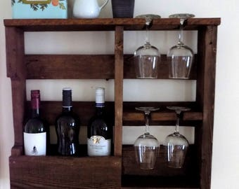 Cut 4 wall wine rack
