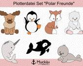 "Plotterdatei Set ""Polar Freunde"""