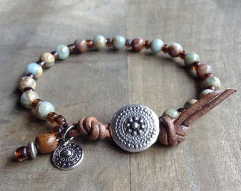 western bracelet boho chic bracelet rustic bracelet gemstone womens jewelry hippie bracelet boho chic jewelry boho bracelet rustic jewelry
