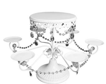 """18.5"""" Cake Stand w/ Arms - Metal (1) - for table decorations"""