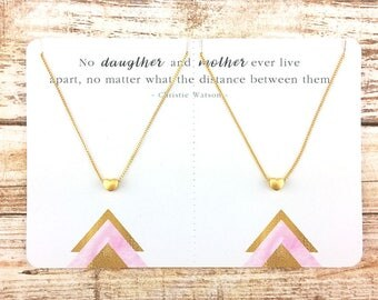 Mother & Daugther Heart Necklace Set | Mom Necklace | Matching Heart Necklace | Mother Daughter Jewelry | Reminder Jewelry | Mom Gift | JUNA