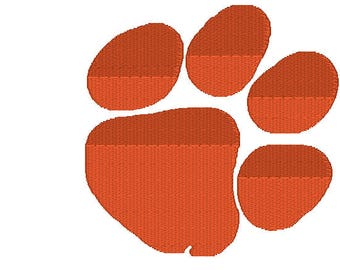 Two different designs filled and applique,Clemson Embroidery Design,Applique and filled Clemson Paw print,Clemson Embroidery Designs,Clemson