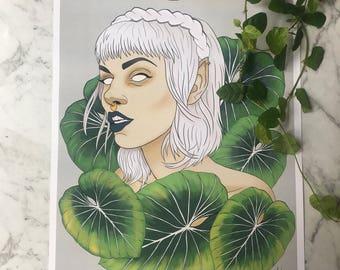Leaf Elf - A4 Print
