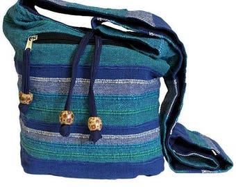 NAPAL Ethnic Hippy Boho Festival Sling Shoulder BAG Blue