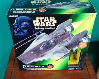 Star Wars Power of the force A Wing fighter 1990's Kenner