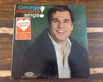 George Maharis Sings! Vintage Vinyl Record LP 1962