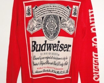 Budweiser sweater | Etsy