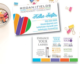 Rodan Fields Business Card Back Regimens - Rodan and fields business card template