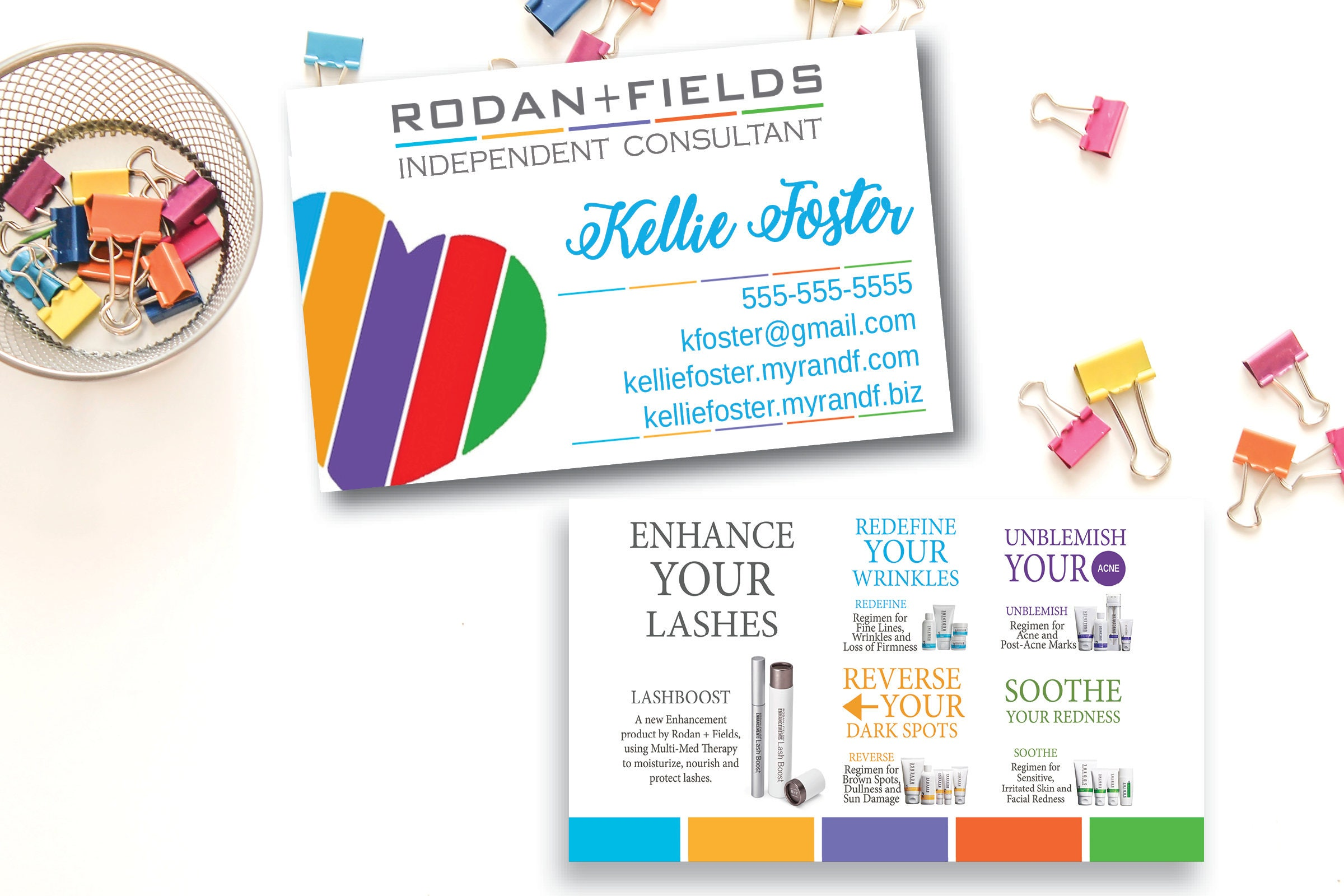 Rodan fields business cards unlimitedgamers rodan and fields business card printed rodan fields colourmoves Image collections