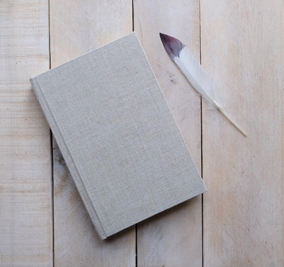 Natural Linen Lined Journal, Writing Journal, Lined Notebook for Journaling, Blank Diary, Custom, Unique Gift, Note book, Sketchbook