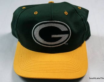 Vintage Green Bay Packers Snapback Hat, KNG Pro Model, New Era, One Size Fits All - Wisconsin, NFL Fooball, Vintage Snapback,