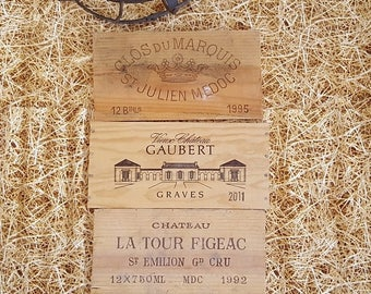 10 % SALE 3 French wood wine crate panel Kitchen restaurant cellar bar bistro café wall decor ! Ref 159622