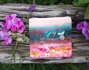 Petit portefeuille bohème, portefeuille pochette pour femme, organisateur sac, cadeau femme, pochette tissu, tissu bohème, étui cartes tissu