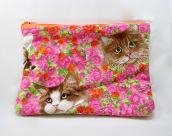Crazy for cats Back to school pencil case/zipper pouch