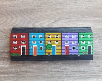 Newfoundland Jellybean House - St. Johns - Jellybean Row - Newfoundland Art - Newfoundland Gifts