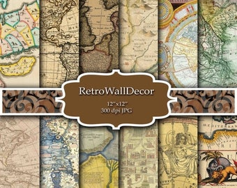 30%OFF Vintage maps digital paper , vintage and antique maps of europe, america and the world , old world maps Buy 2 Get 1 FREE