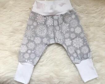 winter snowflake Diaper Pants