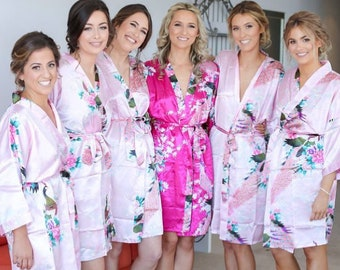 Bridesmaid Robes-Mix Colors Sizes-Make Your Set-Wedding Robe-Bridesmaid Gift-Bridal Robe-Bridesmaid Party-Bridal Party Gift-Weddings Favors