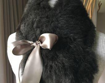 Recycled fur collar / neck warmer elegant