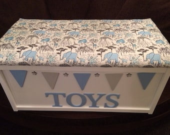personalised toy box. mdf toy trunk. toy chest. living room storage. boys toy box. girls toy box. baby shower gift. toy trunk. toy chest.