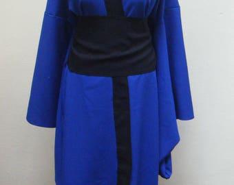 Long kimono black & dark blue