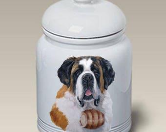 Saint Bernard Ceramic Treat Jars