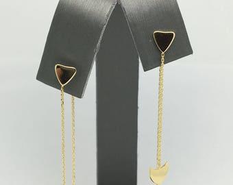 14K Yellow Gold Dangling Earrings