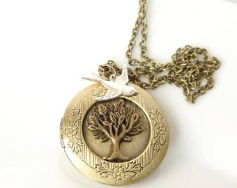 Sale Mothers Day necklace Tree of life locket necklace  Family tree jewelry Personalized photo locket  Family Locket Mom locket Grandma lock
