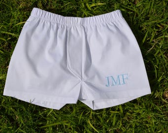 Monogrammed Boy Boxers, Diaper Cover for Boys, Little Boy Boxers, Little Guy Diaper Cover