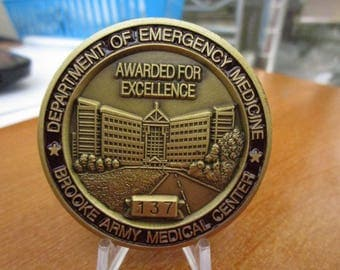 Department of Emergency Medicine * Brooke Army Medical Center * Serialized  Challenge Coin #3756