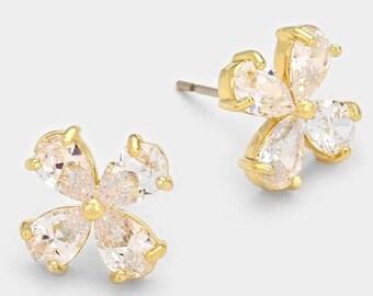 Clover Cubic Zirconia Earrings