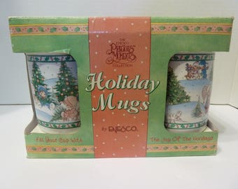 Precious Moments Holiday Mugs, by: Enesco, Circa 1995