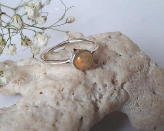 Ethiopian opal ring set in 92.5 sterling silver, resizing available, see link below
