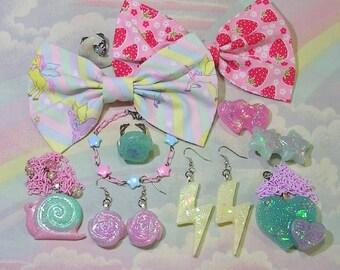 Large Grab Bag - Fairy Kei Mystery Bag, Sweet Lolita Mystery Bag, Pop Kei Grab Bag, Decora, Grab Bag, Accessory Lot