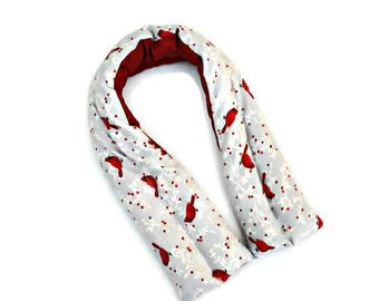 Cardinal heat pack, Extra long neck wrap, Hot cold rice bag, Cooling pad, birthday gift for her, get well gifts, Christmas gifts ideas