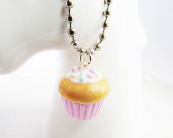 Stitch Marker, Progress Keeper, Cupcake Charm, Knitting Marker, Crochet Marker, Polymer Clay Cupcake, Planner Charm, Miniature Food, Gift