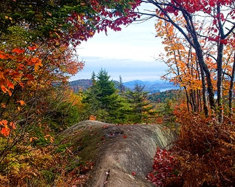 Adirondack Autumn Print, Fine Art Photography, Mountain Photograph, Bald Mountain, Fourth Lake, Old Forge, Adirondack Autumn Photography