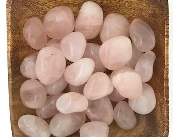 Rose Quartz Tumbled - Tumbled Rose Quartz - Heart Chakra - 4th Chakra - Love - Self Love - Reiki - Energy Healing