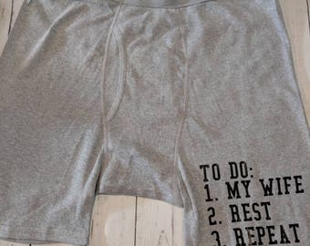 To do list/ Men's boxer briefs/ Custom boxer briefs/ Valentine's day gift for men/ husband gift/ funny gift for men/ stocking stuffer