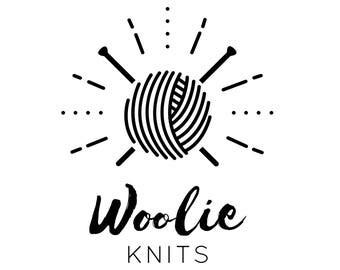 Premade Logo Design, Minimalist Logo, knitter logo, Etsy Shop logo, yarn logo, Feminine Logo, Logo + Business card design, Logos & Branding