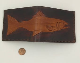 Salmon Bifold Wallet - Brown Leather Bifold Wallet