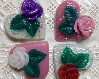 Rose Heart Pins