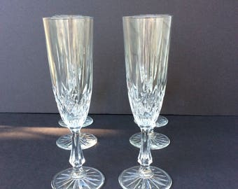 Waterford Hand Cut Crystal Champagne Flutes