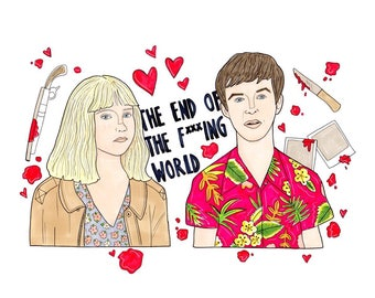 The end of the f***ing world A5 print
