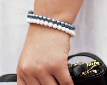 BFF Bracelet Gift - School Spirit Gift - Matching Bracelets - School Colors Jewelry - School Spirit Wear - Best Friend Bracelet - BFF