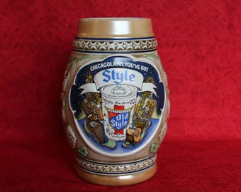 "Limited Edition 1983 Old Style Stein, Featuring ""Chicagoland, You've Got Style"""