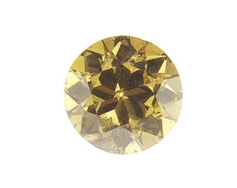 FREE SHIPPING Loose Natural Color Diamond 0.81 Ct Round Cut Deep Brownish Greenish Yellow GIA